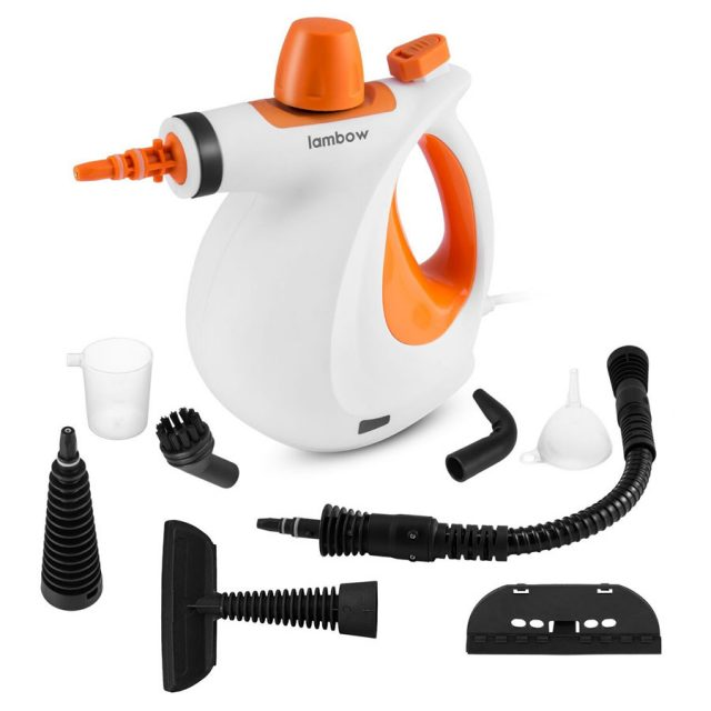 Lambow Pressurized 9-in-1 Handheld Steam Cleaner